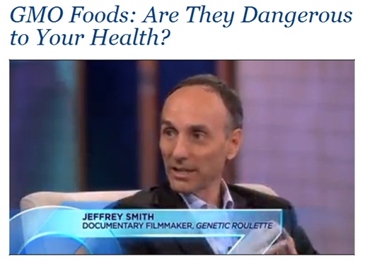 Dr Oz interview Jeffrey Smith