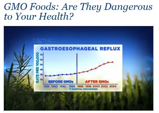 Health claim link to GMOs by Dr Oz